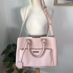 Colette Pink Large Tote Hand Bag w Cross Body Strap